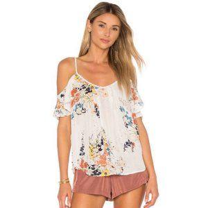 Joie Adorlee Silk Floral Cold Shoulder Camisole